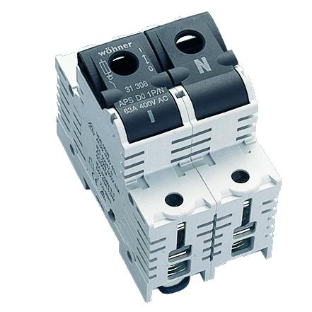 1 Stk D02-Lasttrennschalter 63A, 1-polig+N SI313080--