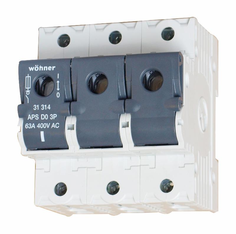 1 Stk Lasttrennschalter für D0-Sicherungen bis 63 A, 3-polig SI313140--