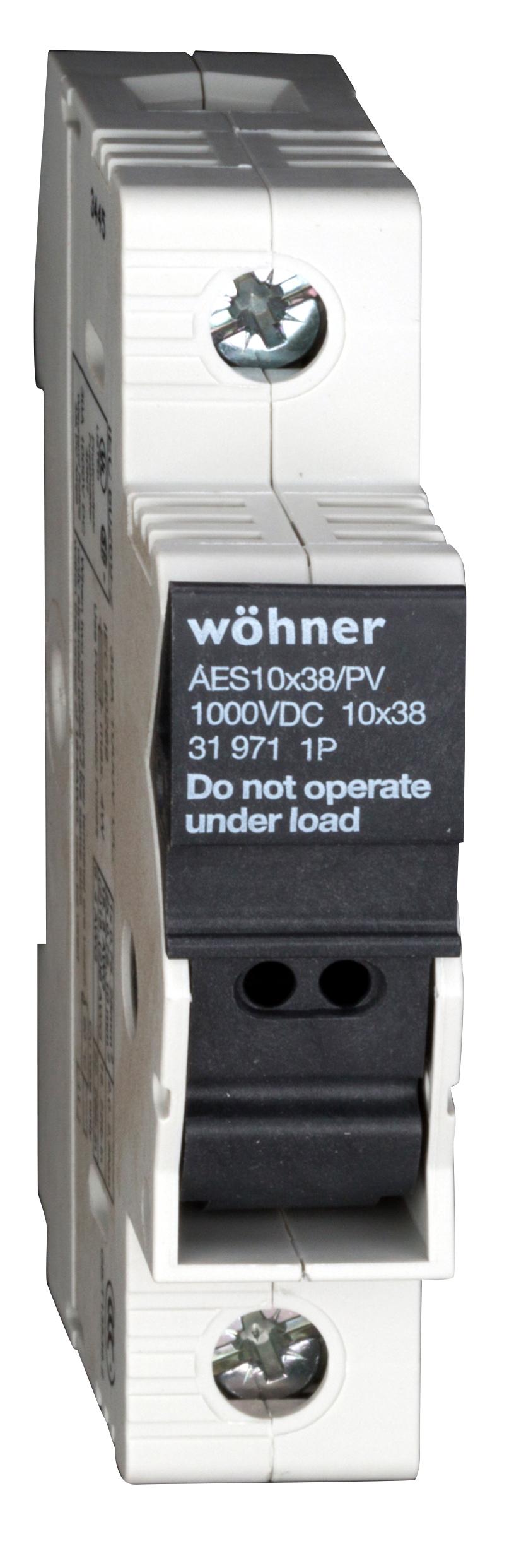 1 Stk Halter für zylindrische Sicherung 10x38, 1pol. SI319710--