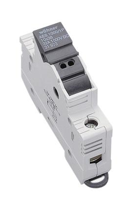1 Stk Halter für zylindrische Sicherung 10x38, 1pol. Mit LED SI319730--