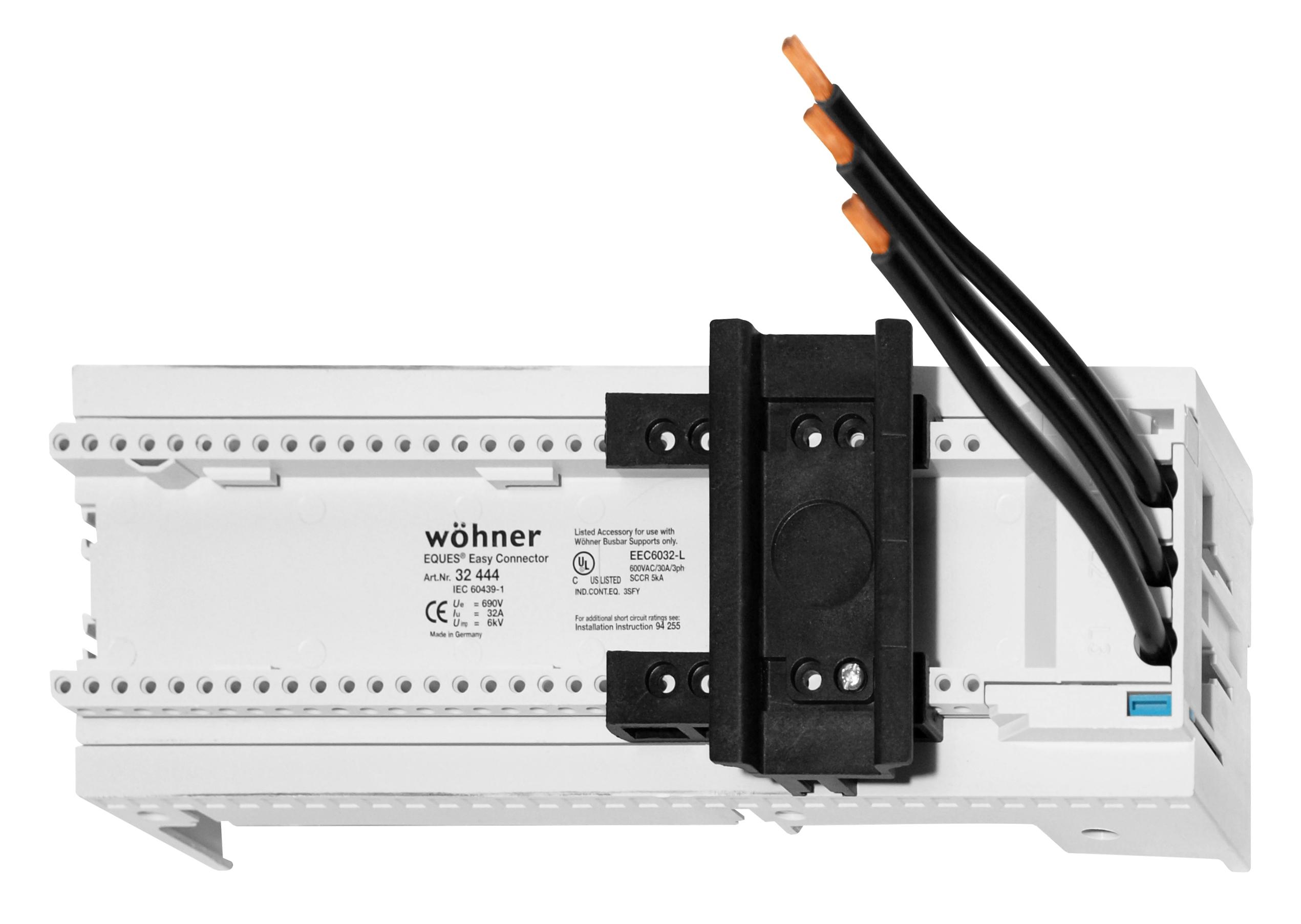 1 Stk Sammelschienen-Adapter 32A, 1 Tragschiene SI324440--