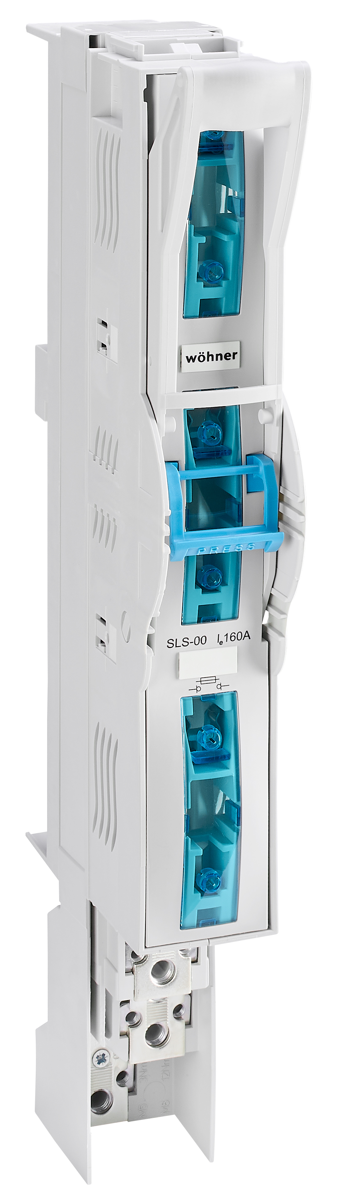 1 Stk 60mm-System, 3-polig schaltbar, Schelle/Schraube, 160A Gr.00 SI332340--