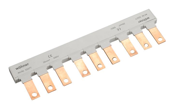 1 Stk Kammschiene 3-polig Gr.00, 35mm², isoliert, für 3 NH Gr.00 SI333770--