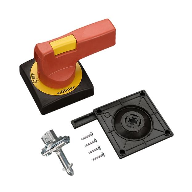 1 Stk Türkupplungsdrehgriff für CrossLinkSwitch rot-gelb SI339110--