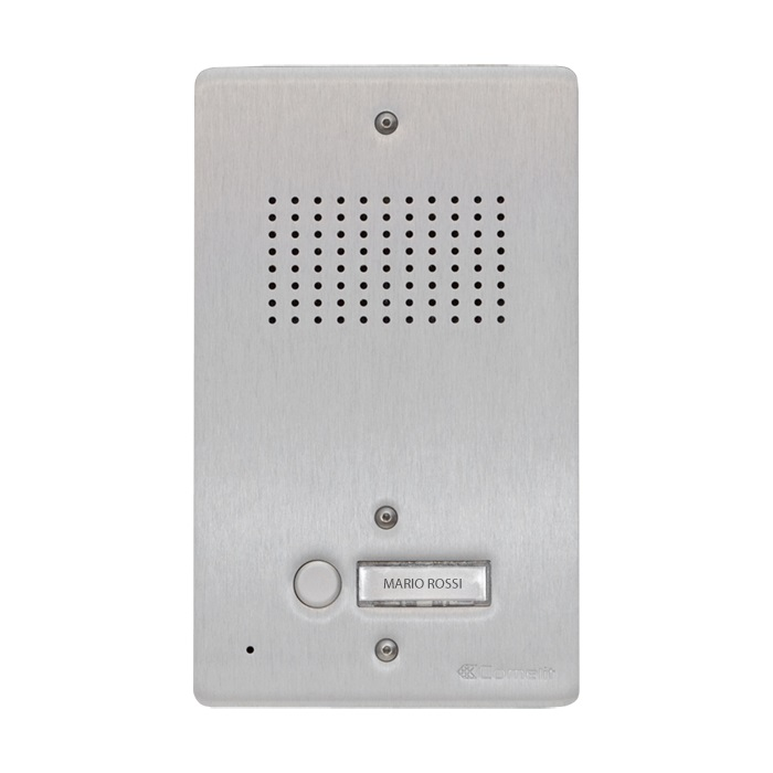 1 Stk AV-Panel Audio, 1 Taste, ohne Postschloss-Ausschnitt, Alu SP3001NAA-