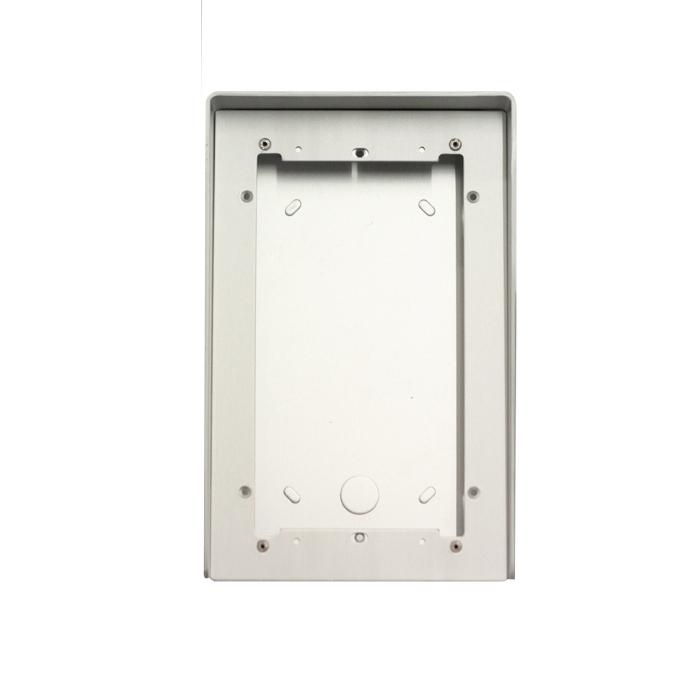 1 Stk AP Gehäuse 2fach aus eloxiertem Aluminium mit Regenschutz SP311620--