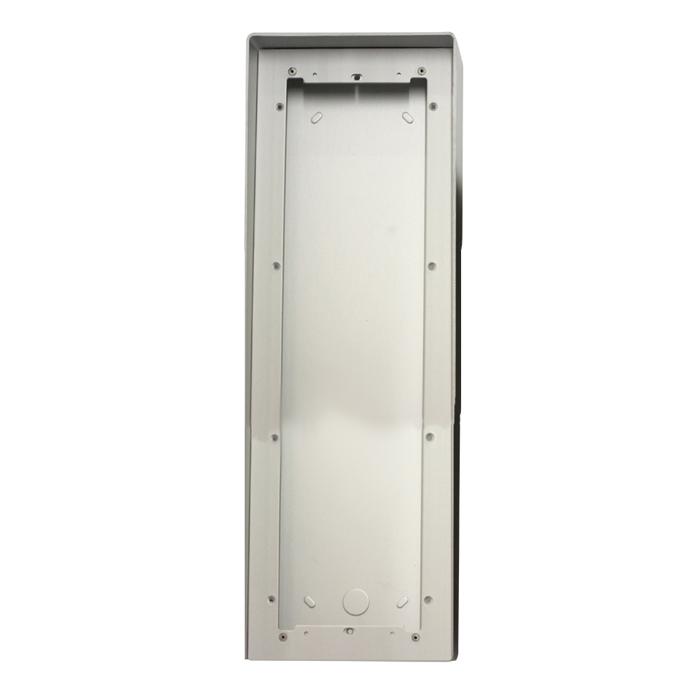 1 Stk AP Gehäuse 4fach aus eloxiertem Aluminium mit Regenschutz SP311640--