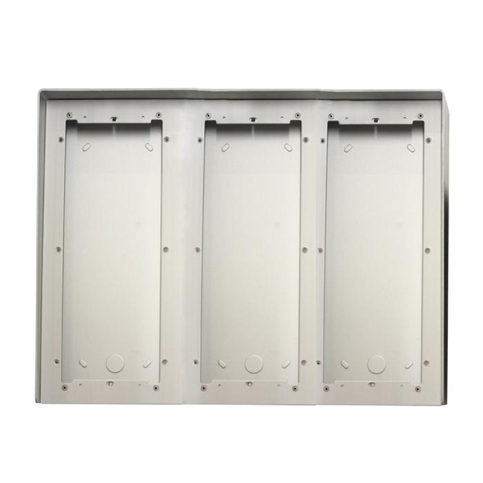 1 Stk AP Gehäuse 9fach aus eloxiertem Aluminium mit Regenschutz SP311690--