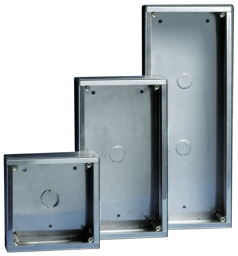 1 Stk AP-Gehäuse Edelstahl für 2 Module Vandalcom SP315902--