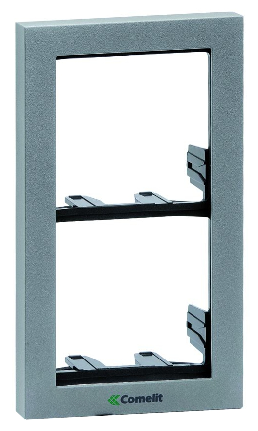 1 Stk Modulrahmen 2-fach silber SP331102S-