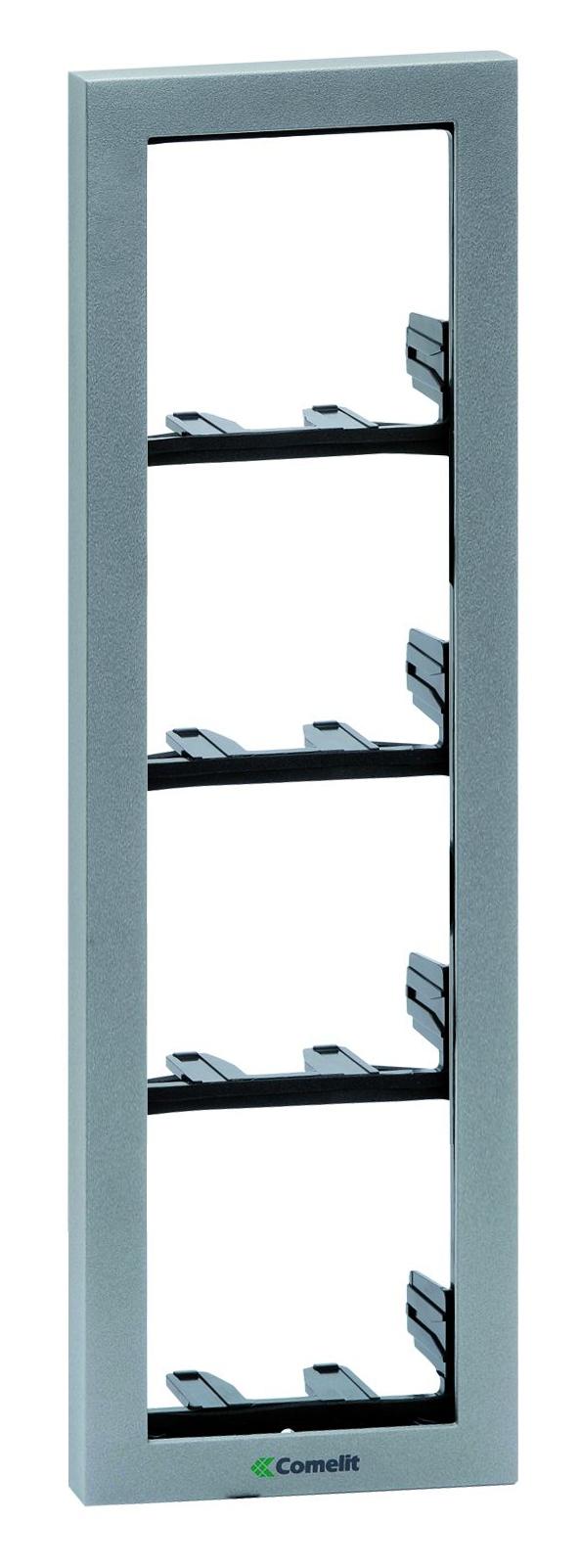 1 Stk Modulrahmen 4-fach silber SP331104S-