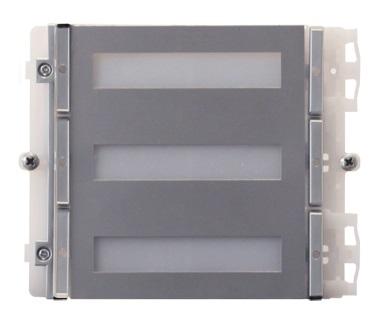 1 Stk Modul für 6 Tasten IKALL METAL für Simplebus/IP Systeme SP33436M--