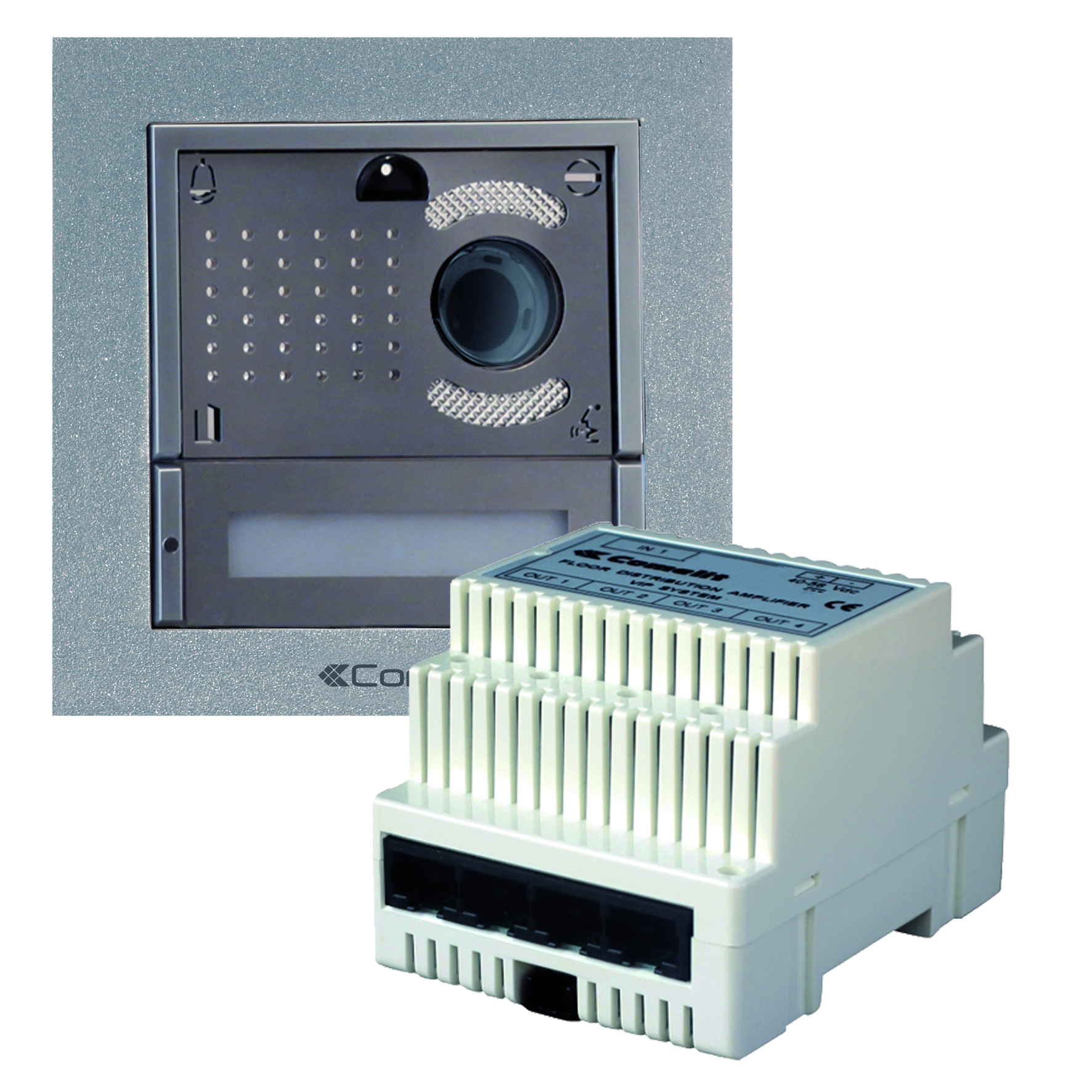 1 Stk Einfamilien-Videokit IKALL METAL mit Master Gateway, VIP SP8513HIM-