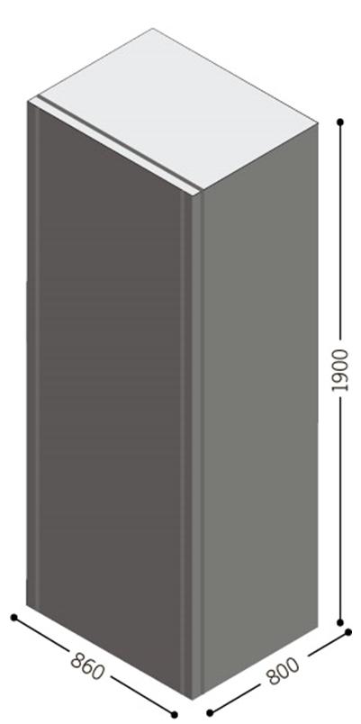 1 Stk Batteriebox 480V, 40 x 80 Ah (inkl. Batterien) USBB480YJ9