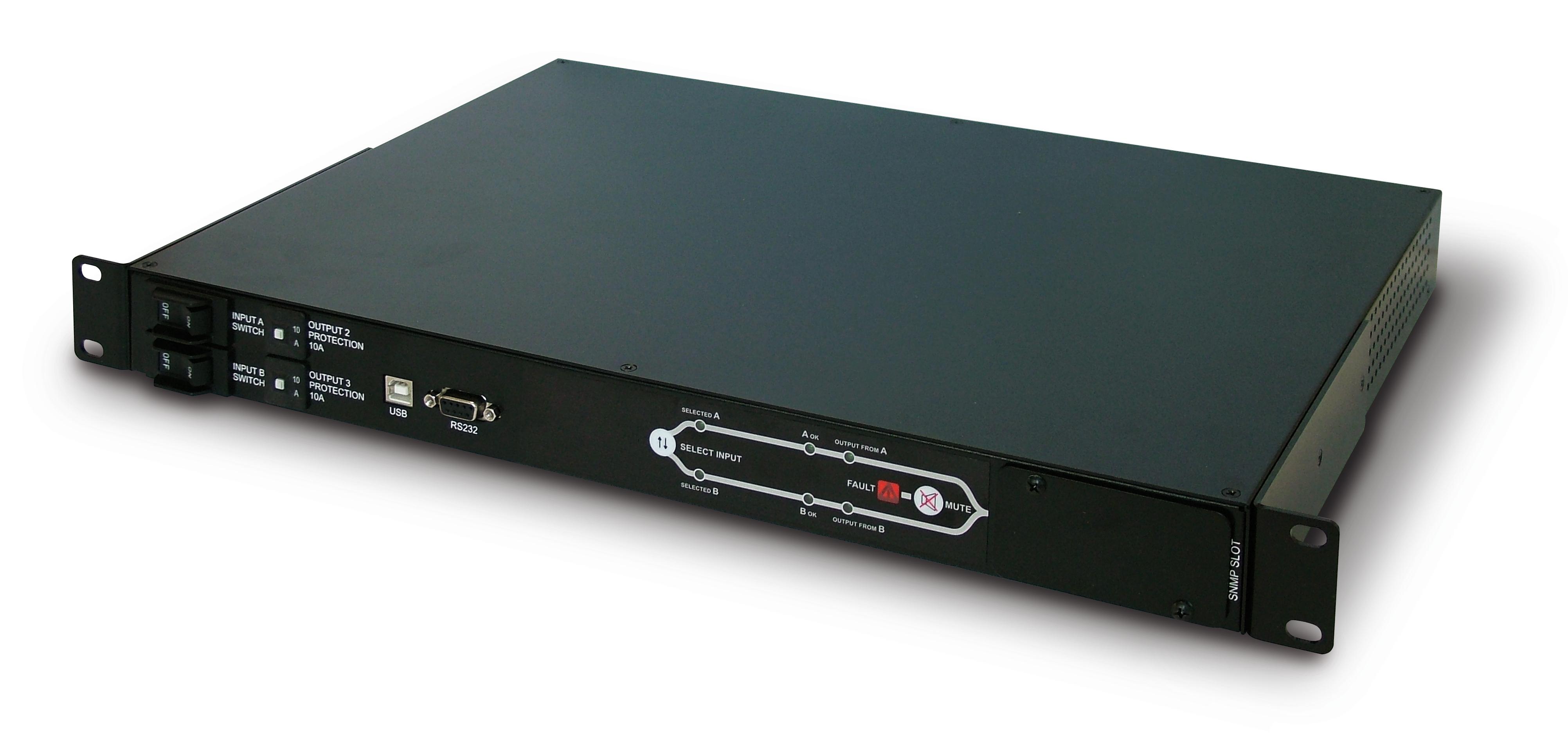 1 Stk Multi Switch ATS 16A 3300VA 2 Eingänge 3 Ausgänge- RS232 USMSATS---
