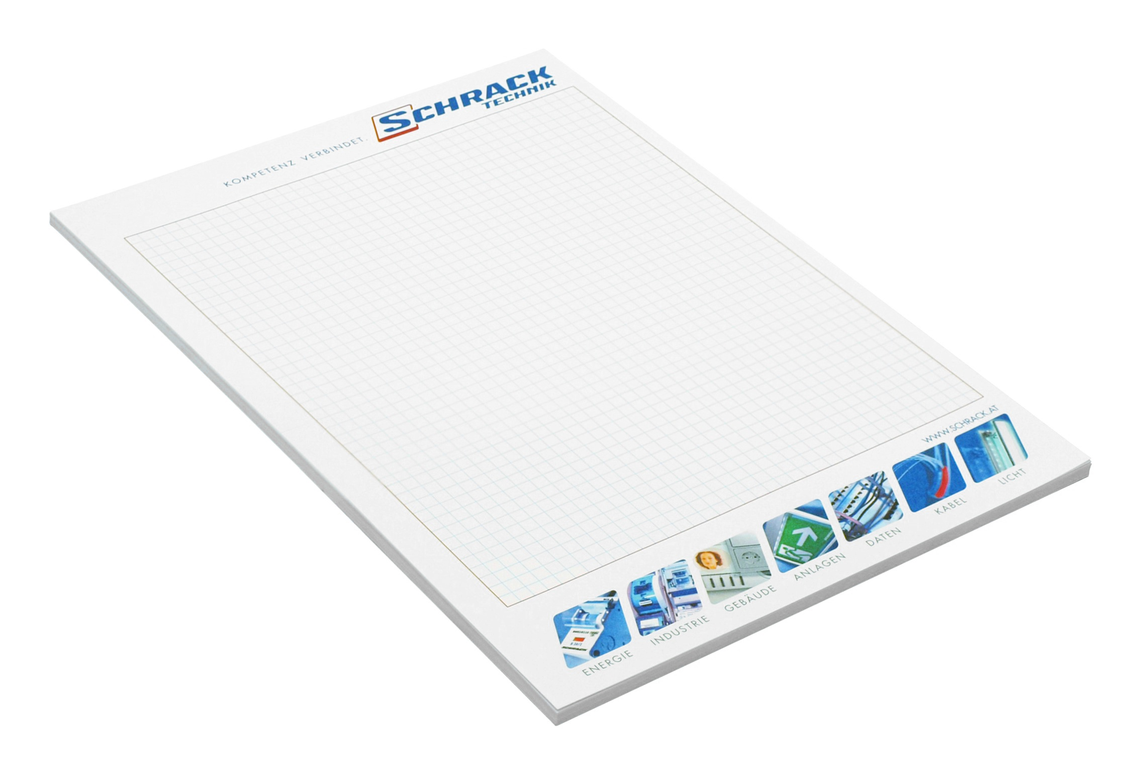 1 Stk Schreibblock A4 mit Leiste W-95000060