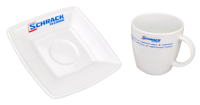 1 Stk Cafe Set m.Untertasse Schrack W-95000063