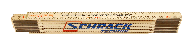 1 Stk Holz-Meterstab, Länge 2m W-95000242