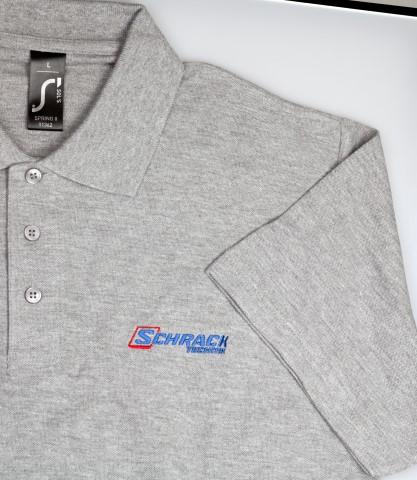 1 Stk Polo Kurzarm grau meliert -S- W-95000412