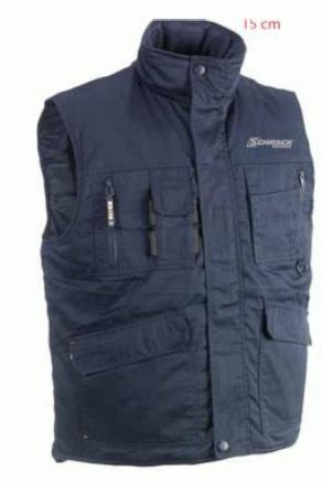 1 Stk Gilet-S wattiert, wasserabw., Polyester-Baumwoll-Twill W-95000446