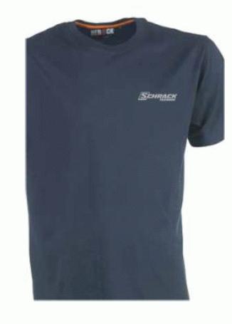 1 Stk T-Shirt-XXXL, Baumwoll-Jersey, dunkelblau W-95000472