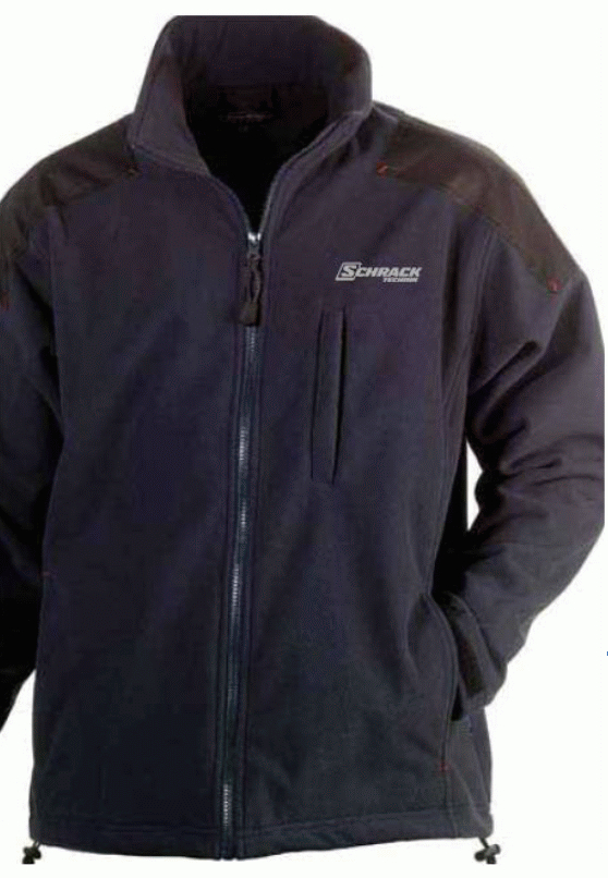 1 Stk Fleece Jacke-S winddicht d.blau,atmungsaktiv,wasserabw. W-95000473