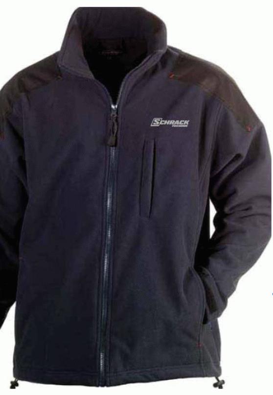1 Stk Fleece Jacke-XL winddicht d.blau,atmungsaktiv,wasserabw. W-95000476