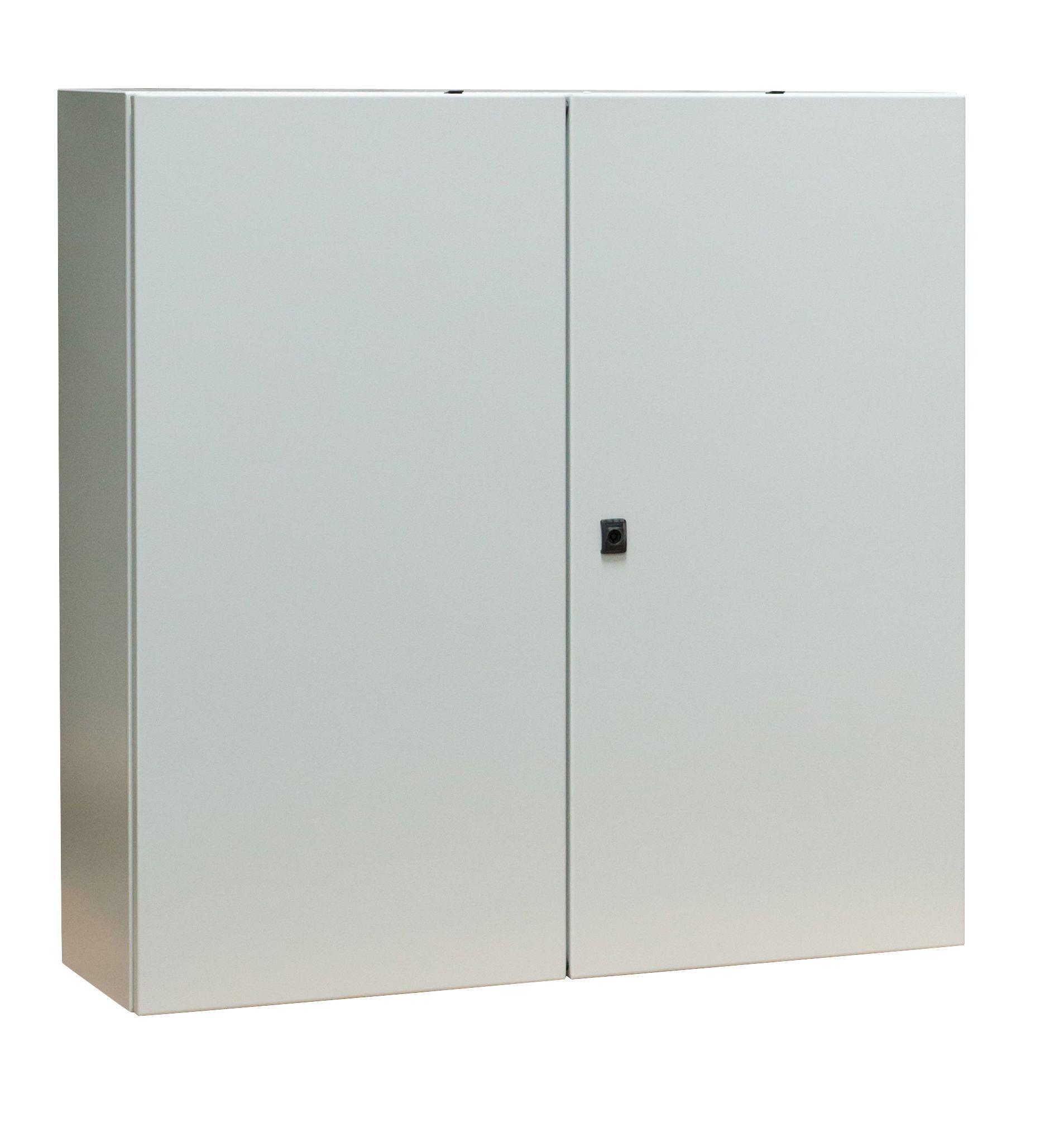 1 Stk Wandschrank Mono IP55 H=600 B=800 T=300 Stahlblech 2-türig WSM6080302