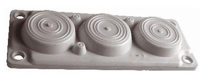 1 Stk Kunststoff-Flansch zu WSVBF, 6 DF, halogenf. RAL7035, IP65 WSVBE2130G