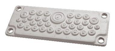 1 Stk Kunststoff-Flansch zu WSVBF, 35 DF, halogenf. RAL7035, IP65 WSVBE2135G