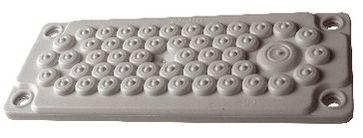 1 Stk Kunststoff-Flansch zu WSVBF, 50 DF, halogenf. RAL7035, IP65 WSVBE2150G