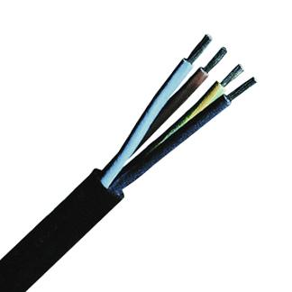 100 m H05RR-F 2x0,75 schwarz, Gummischlauchleitung feindrähtig XC040101--
