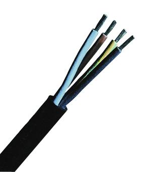 100 m H05RR-F 4G1 schwarz, Gummischlauchleitung feindrähtig XC040206--