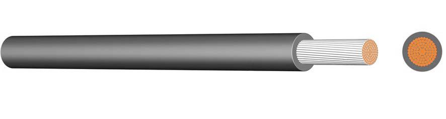 100 m SiF 2,5 schwarz, Silikon Aderleitung XC09020501