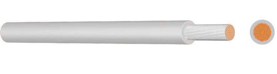 100 m SiF 2,5 weiß, Silikon Aderleitung XC09020507