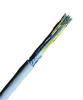 100 m F-YAY 40x2x0,6 grau, Installationskabel für Fernmeldeanlagen XC150212--