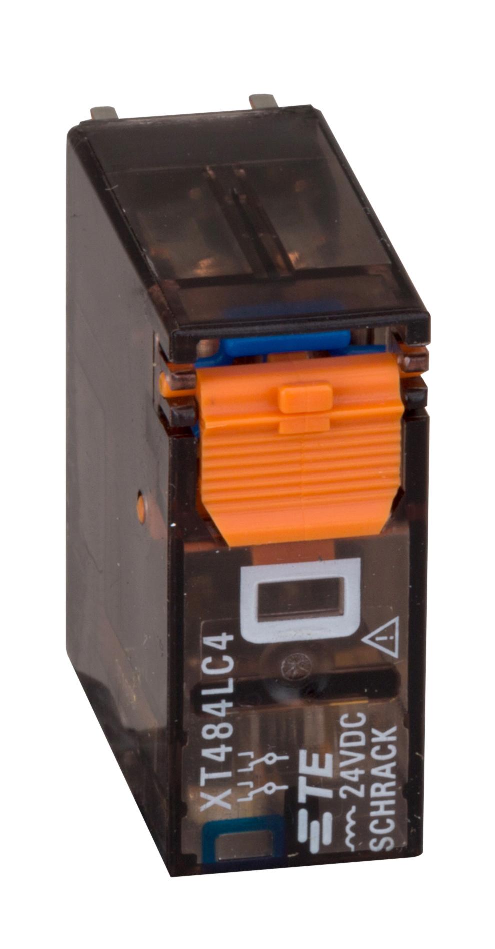 1 Stk Steckbares Interfacerelais, 2 Wechsler, 24VDC, 8A, 5mm XT484LC4--