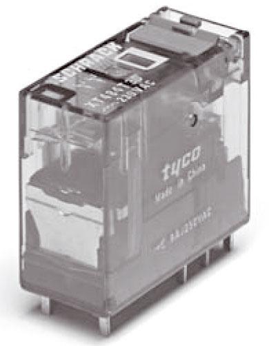 1 Stk Steckbares Interfacerelais, 2 Wechsler, 24VAC, 8A, 5mm, LED XT484R24--