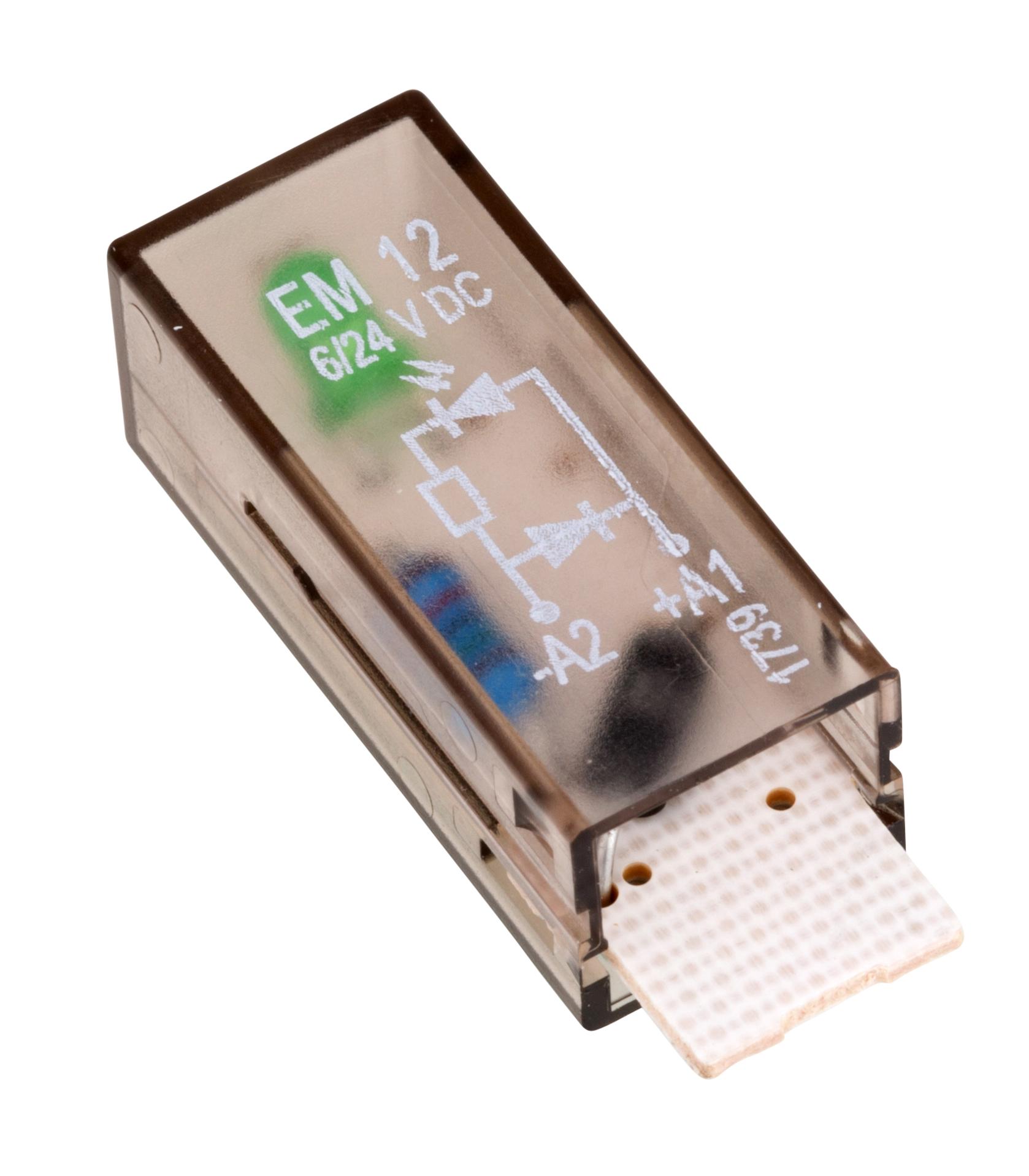 1 Stk LED-Steckmodul, grün, 6-24V DC mit Freilaufdiode, A1+, EM12 YMLGD024--