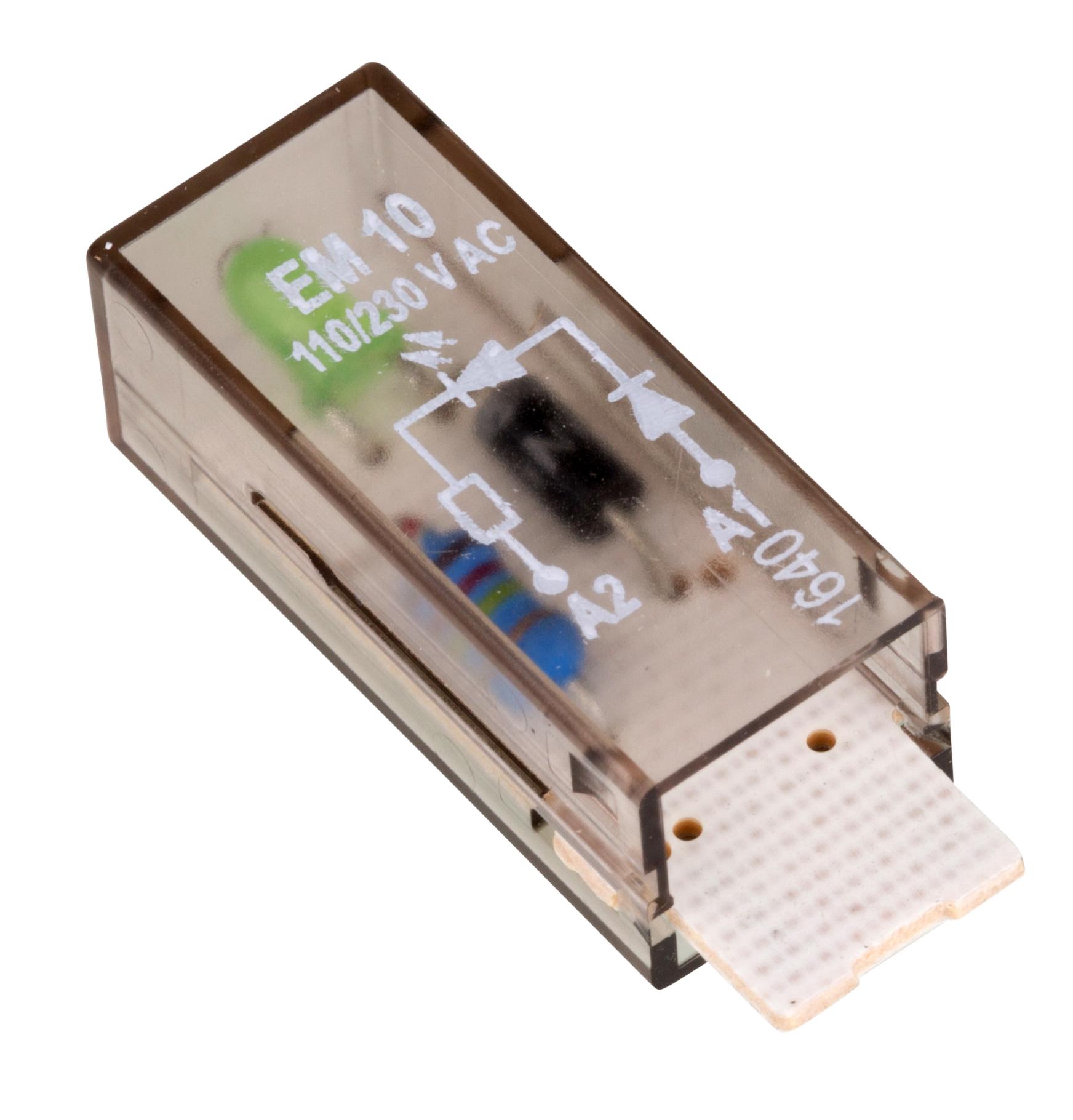 1 Stk LED-Steckmodul, grün, 110-230V AC, EM10 YMLGW230--