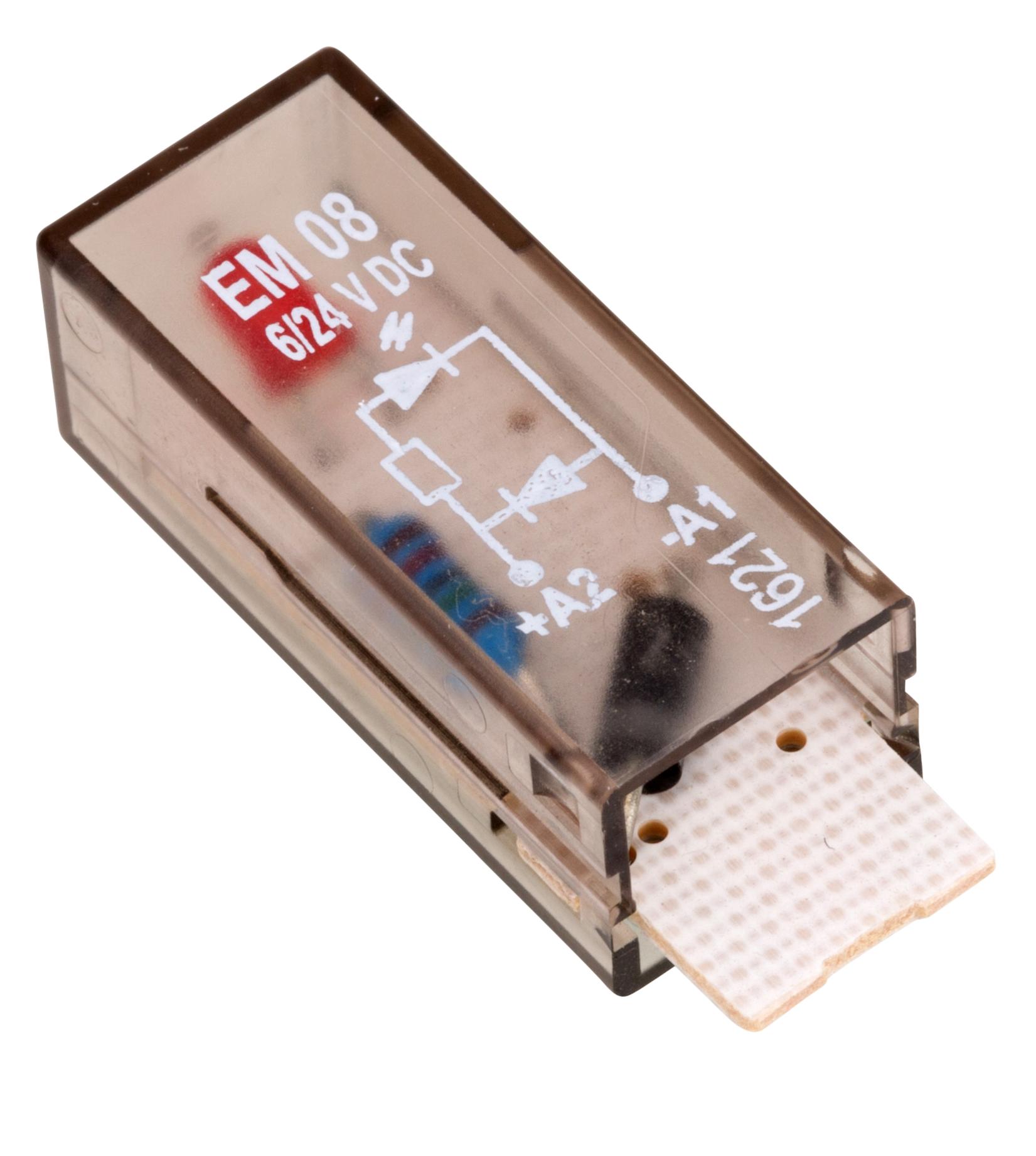 1 Stk LED-Steckmodul, rot, 6-24V DC, A1-, EM08 YMLRD024--