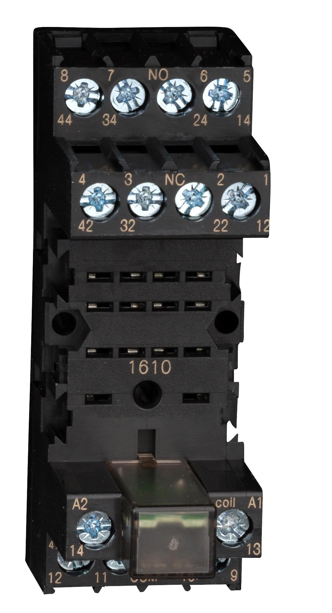 1 Stk Steck-Fassung 4-polig 6A mit Freilaufdiode für Relais PT YPT78110--