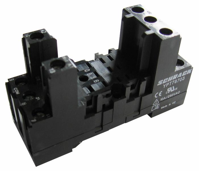 1 Stk DIN-Schienenfassung für PT3-Relais, 11-polig, 10A YPT78703--