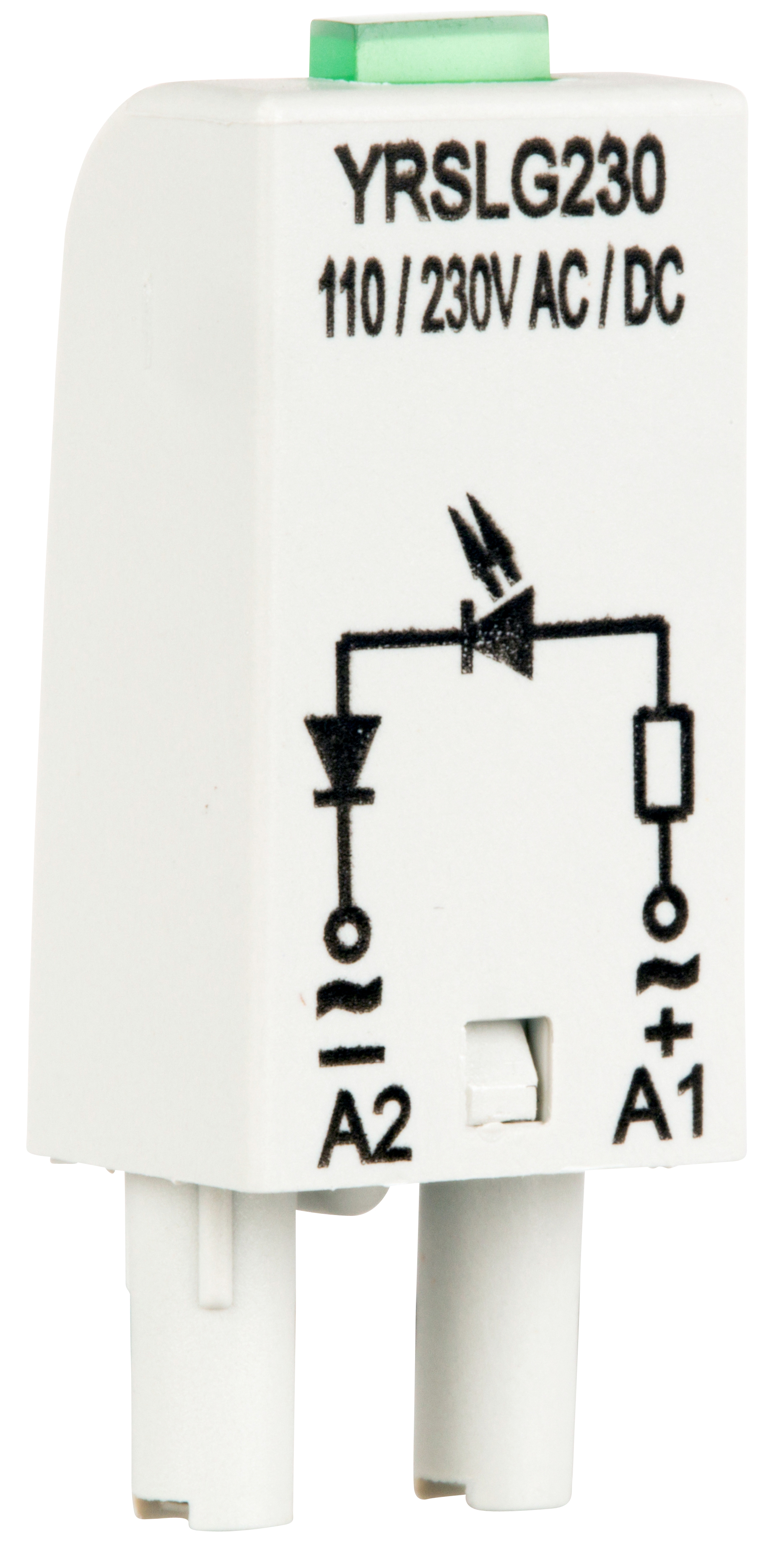 1 Stk LED-Steckmodul, grün, 110-230V AC, S-Relay Serie 4 YRSLG230--