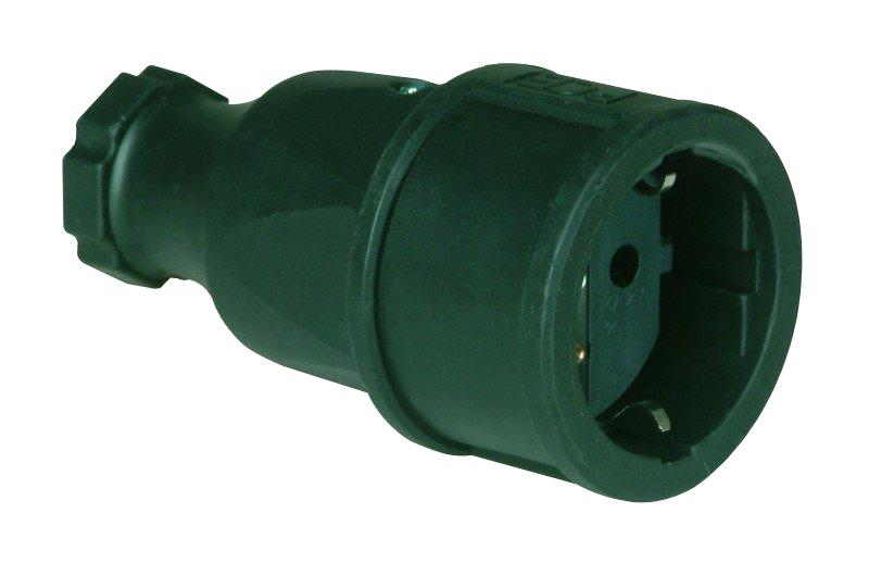1 Stk Gummi-Schutzkontaktkupplung, schwarz YY492630--