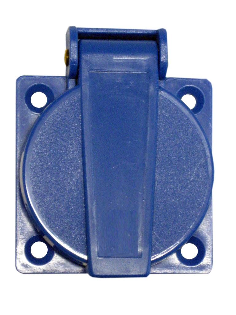 1 Stk Schukosteckdose mit Deckel, blau, 16A, VBG4, IP54 YY492639-A