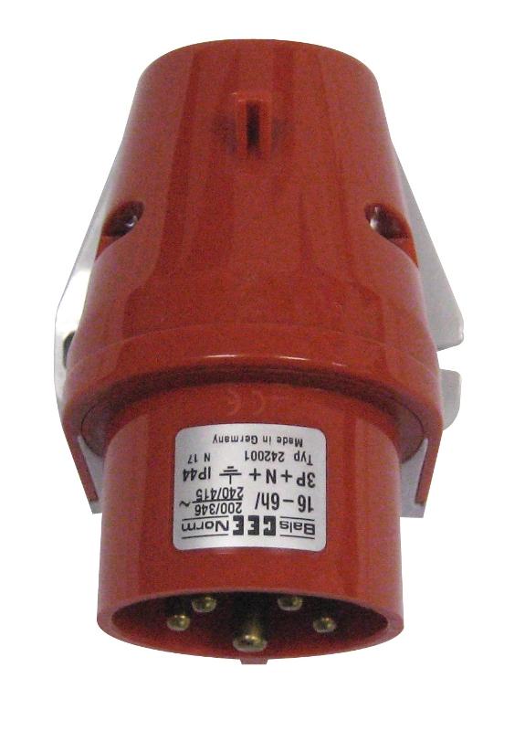 1 Stk CEE-Wandgerätestecker 5x63A 400V YY495563--