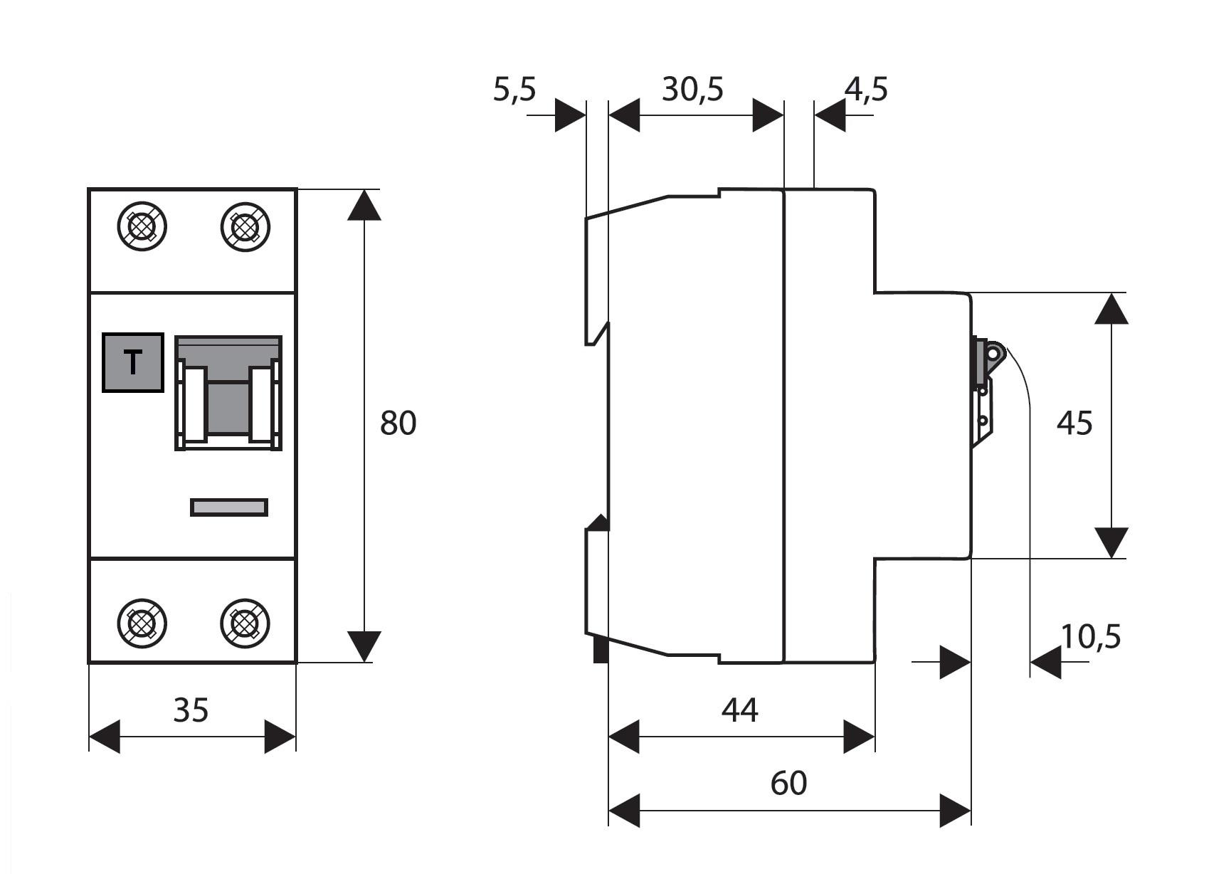 Elektro Austria - FI-Schalter, 25A, 2-polig, 30mA,Bauart G, Typ AC