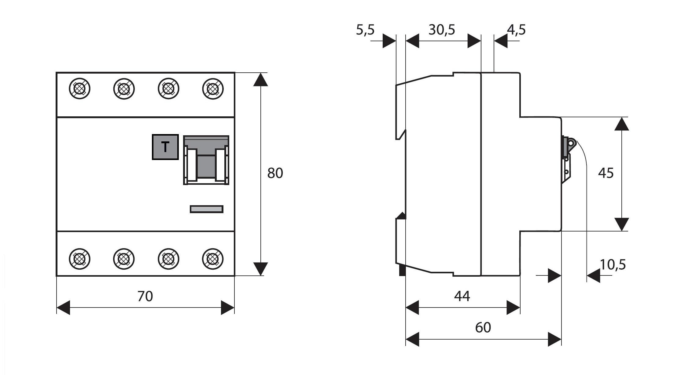 elektro austria fi schalter 63a 4 polig 30ma vsf bauart g typ a. Black Bedroom Furniture Sets. Home Design Ideas