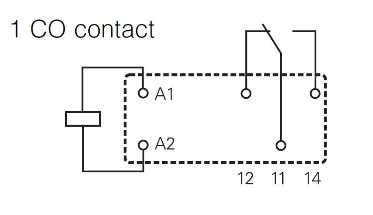 pcb relay 1 c  o 24vdc 12a pinning 5 0
